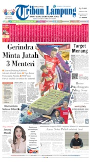 Cover Tribun Lampung 05 Oktober 2019