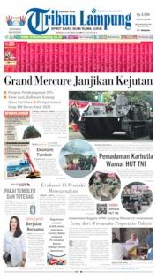 Cover Tribun Lampung 06 Oktober 2019