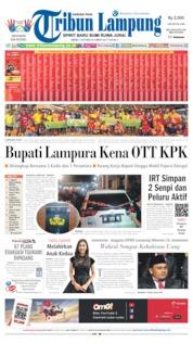 Cover Tribun Lampung 07 Oktober 2019