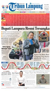 Tribun Lampung Cover 08 October 2019