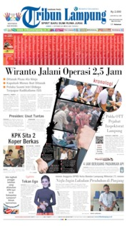 Tribun Lampung Cover 11 October 2019
