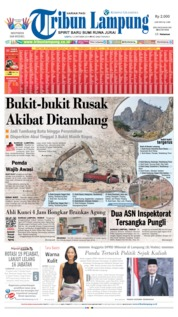 Tribun Lampung Cover 12 October 2019