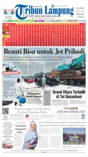 Tribun Lampung Cover 13 October 2019