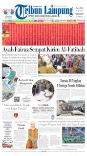 Cover Tribun Lampung 15 Oktober 2019