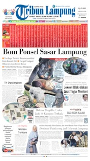 Tribun Lampung Cover 18 October 2019