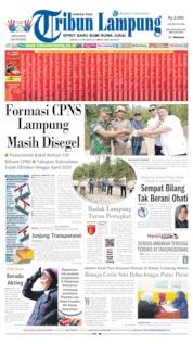 Cover Tribun Lampung 19 Oktober 2019