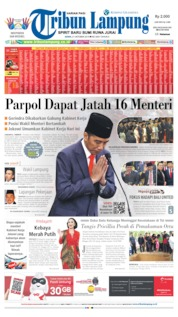 Tribun Lampung Cover 21 October 2019