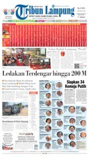 Cover Tribun Lampung 23 Oktober 2019