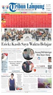 Cover Tribun Lampung 24 Oktober 2019
