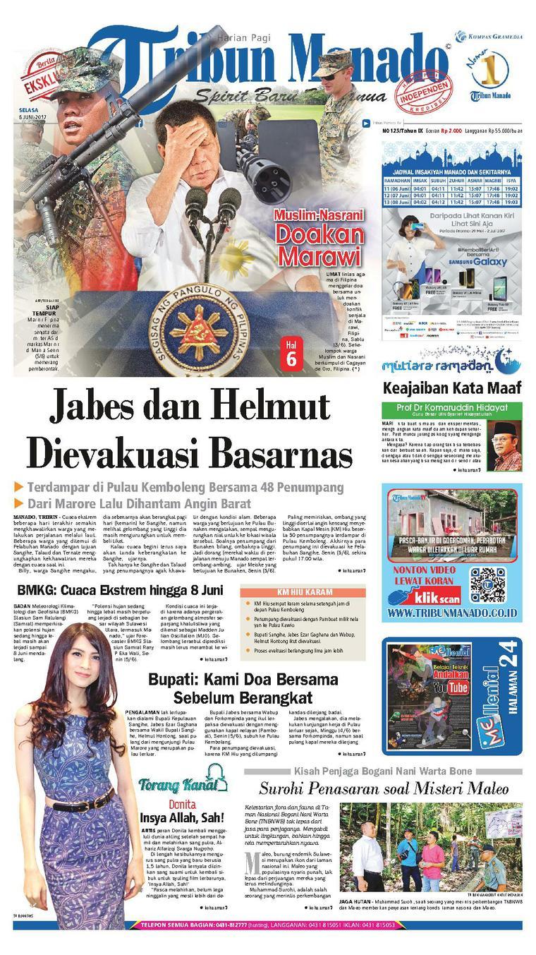 Tribun Manado Newspaper 06 June 2017 - Gramedia Digital