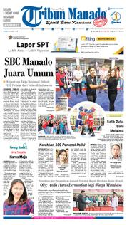 Tribun Manado Cover 18 March 2018