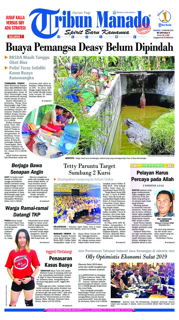 Koran Digital Tribun Manado 13 Januari 2019