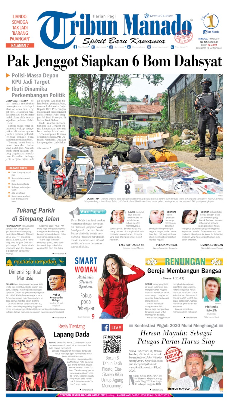 Tribun Manado Digital Newspaper 19 May 2019
