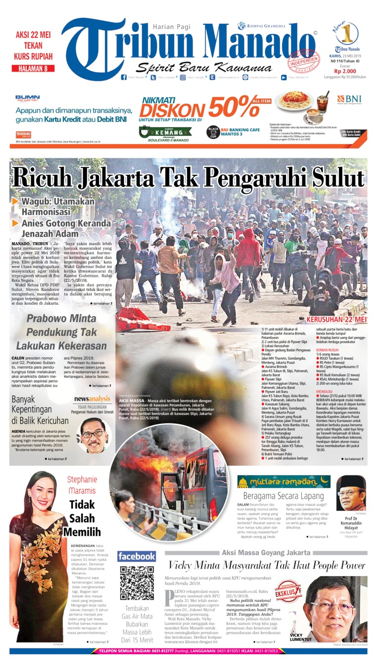 Tribun Manado Digital Newspaper 23 May 2019