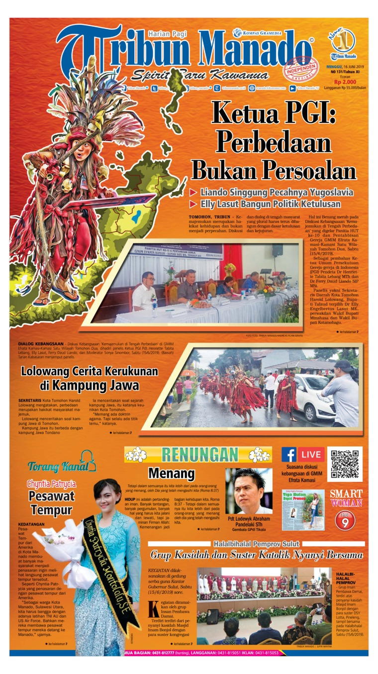 Tribun Manado Digital Newspaper 16 June 2019