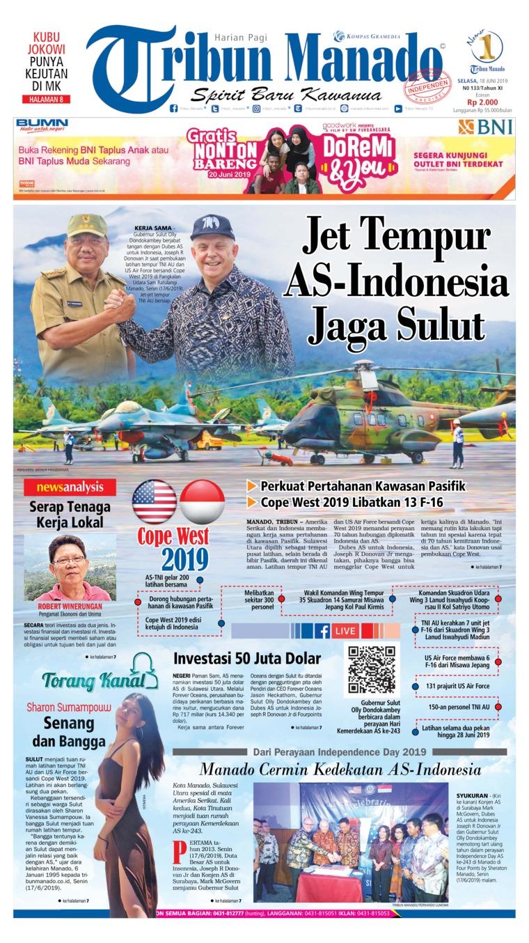 Koran Digital Tribun Manado 18 Juni 2019