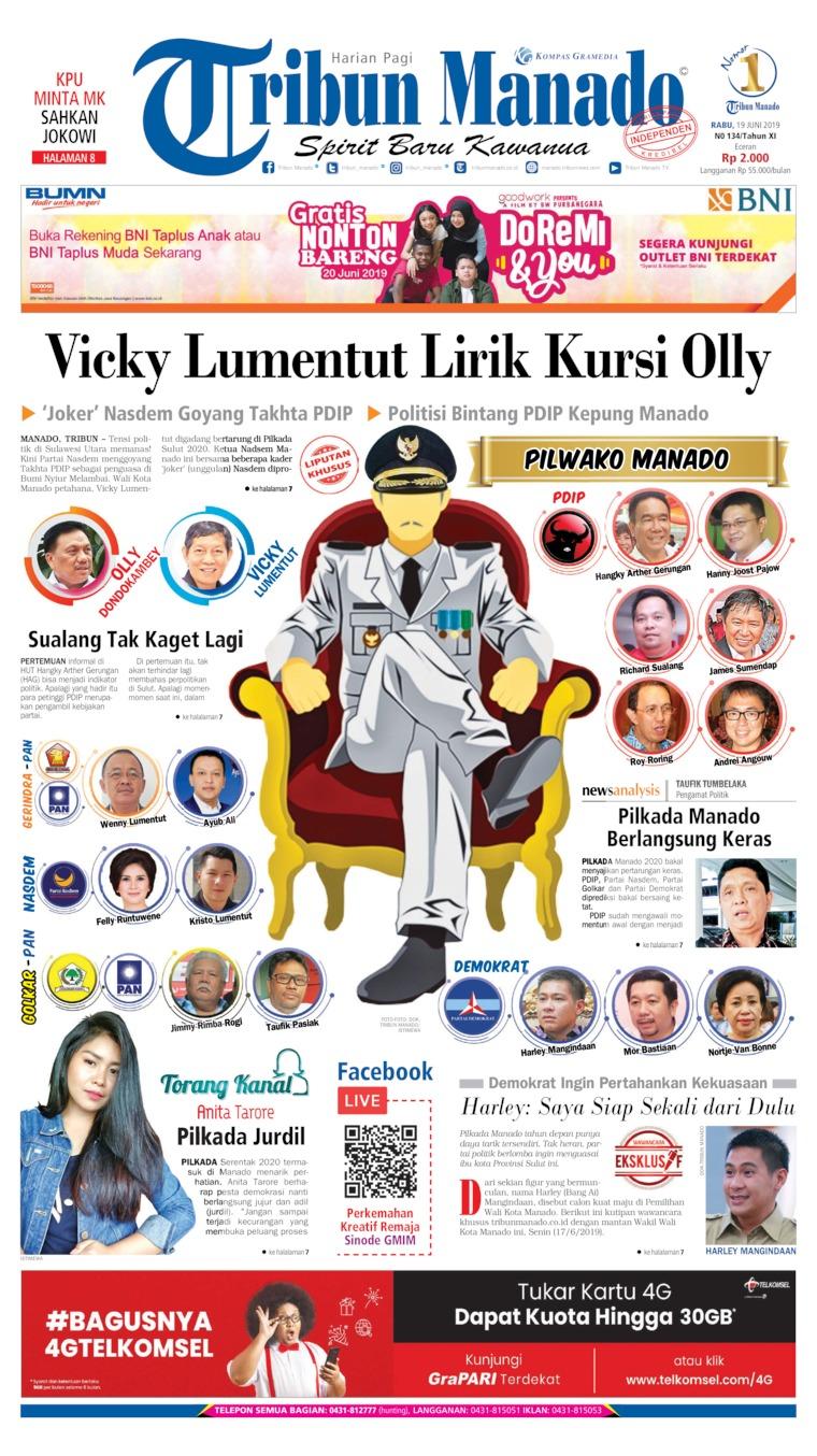 Koran Digital Tribun Manado 19 Juni 2019
