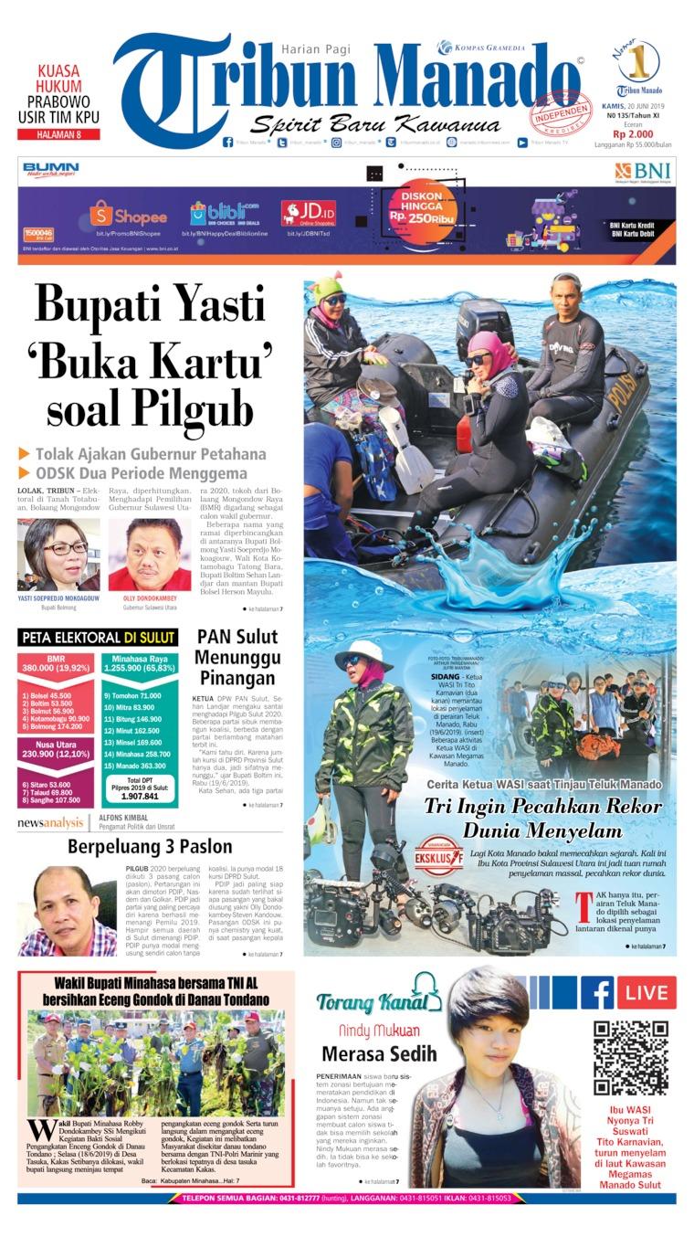Koran Digital Tribun Manado 20 Juni 2019