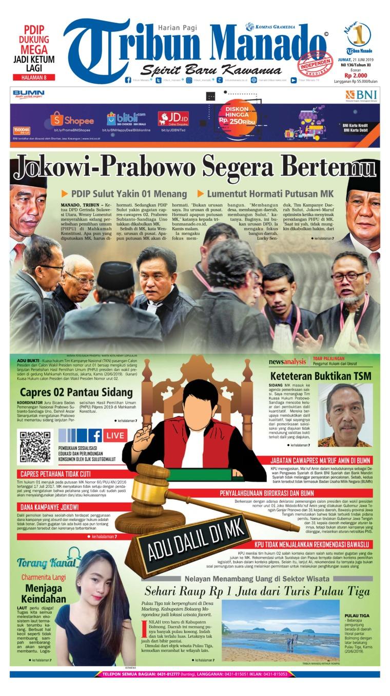 Koran Digital Tribun Manado 21 Juni 2019