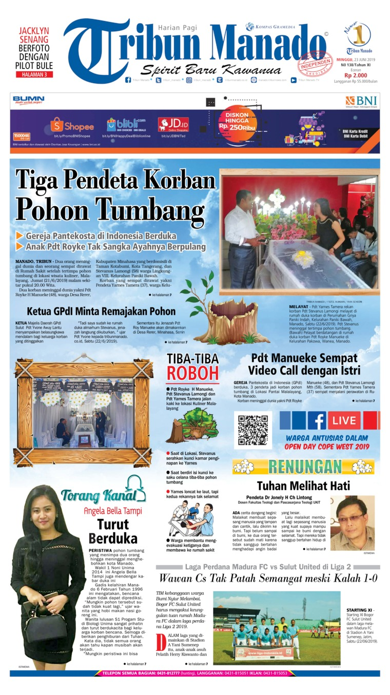Koran Digital Tribun Manado 23 Juni 2019