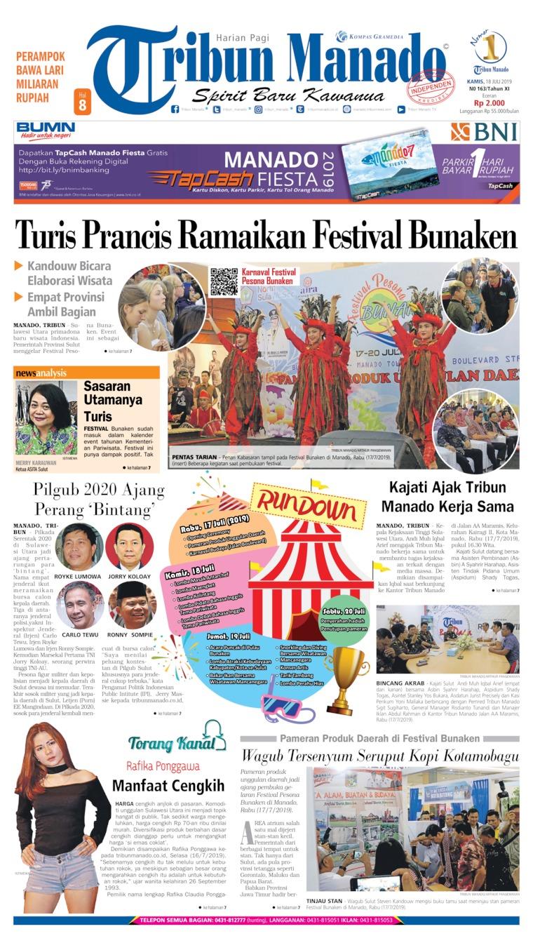 Koran Digital Tribun Manado 18 Juli 2019