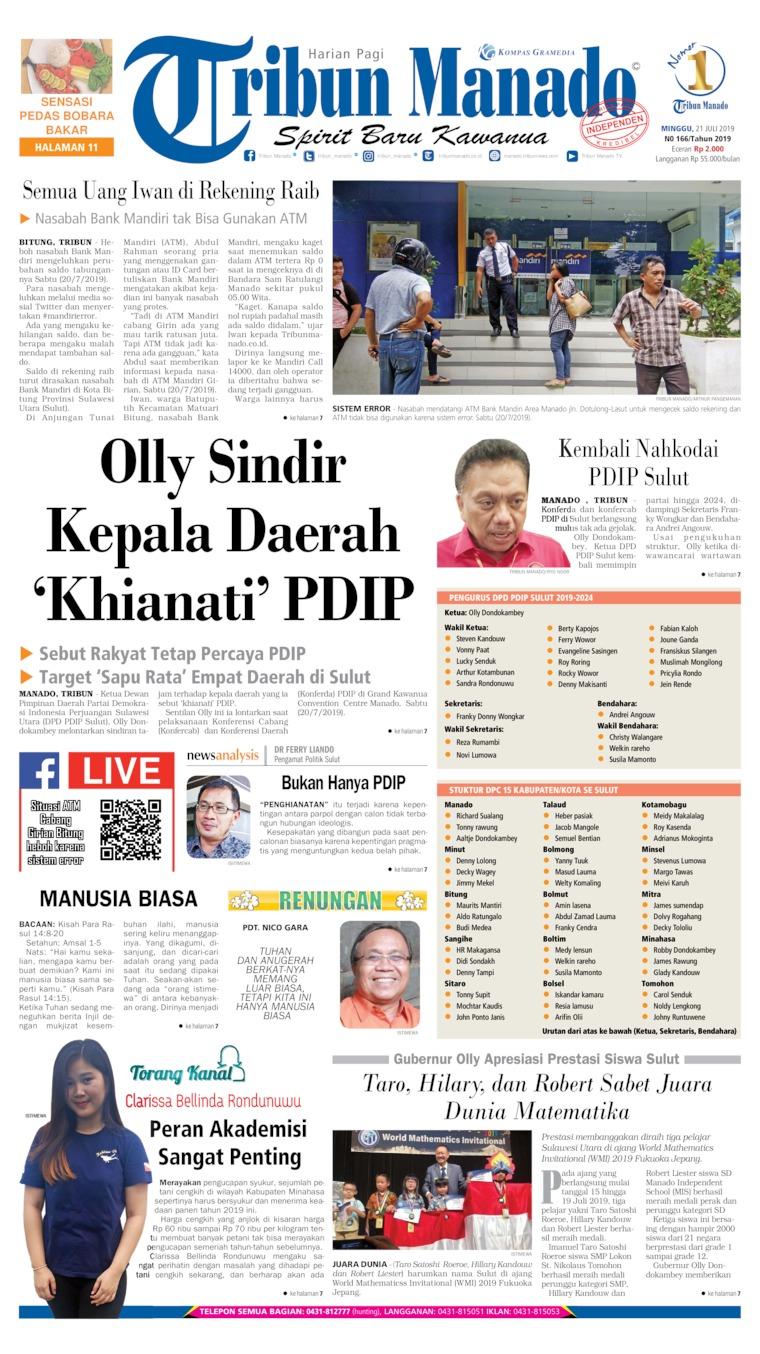 Tribun Manado Digital Newspaper 21 July 2019