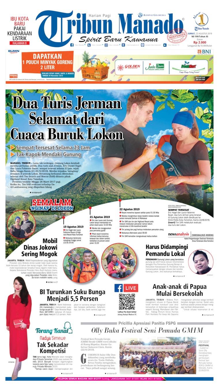 Koran Digital Tribun Manado 23 Agustus 2019