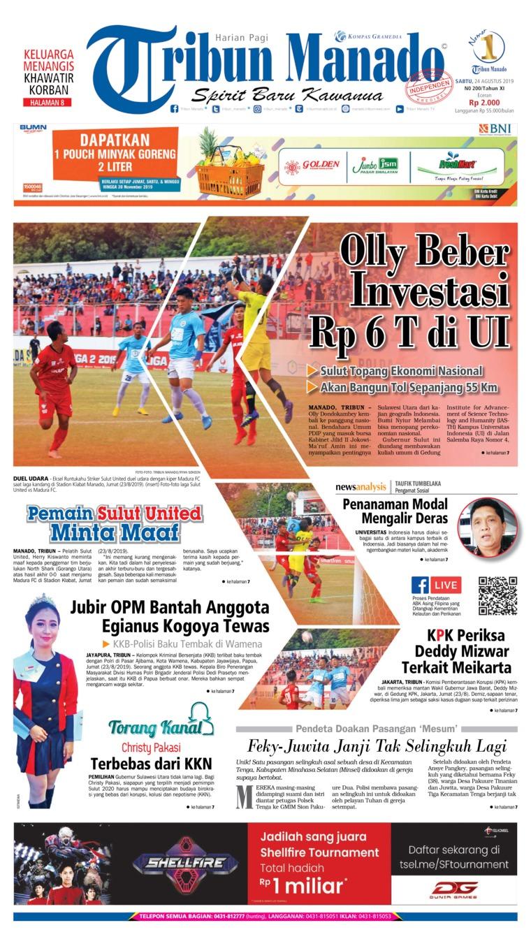 Koran Digital Tribun Manado 24 Agustus 2019