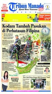 Cover Tribun Manado 23 Mei 2018