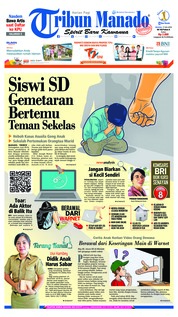 Cover Tribun Manado 17 Juli 2018