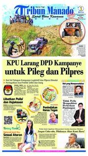 Cover Tribun Manado 23 September 2018
