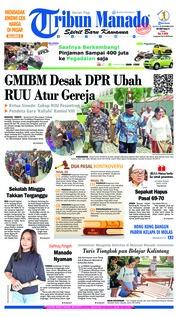 Cover Tribun Manado 20 November 2018