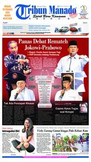 Cover Tribun Manado 17 Januari 2019