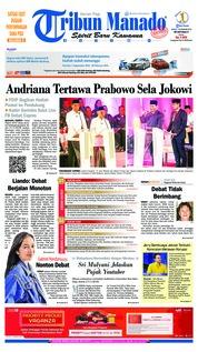Cover Tribun Manado 18 Januari 2019