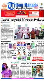 Cover Tribun Manado 19 Januari 2019