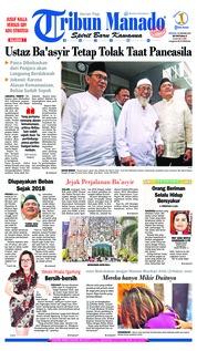 Cover Tribun Manado 20 Januari 2019