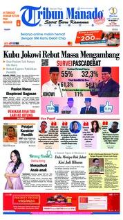 Cover Tribun Manado 21 Januari 2019