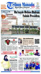 Cover Tribun Manado 22 Januari 2019