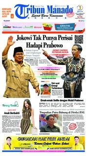 Cover Tribun Manado 16 Februari 2019