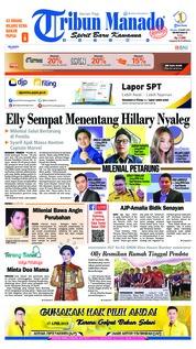 Cover Tribun Manado 19 Maret 2019