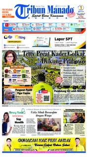 Cover Tribun Manado 22 Maret 2019