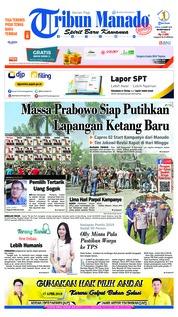 Tribun Manado Cover 23 March 2019