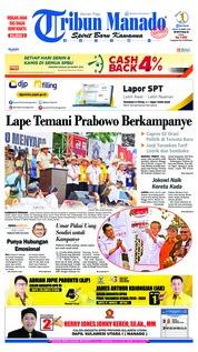 Cover Tribun Manado 25 Maret 2019