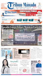 Cover Tribun Manado 16 April 2019