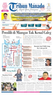 Cover Tribun Manado 17 April 2019
