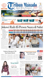 Cover Tribun Manado 18 April 2019