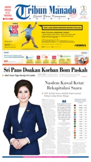 Cover Tribun Manado 22 April 2019
