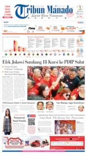 Cover Tribun Manado 25 April 2019