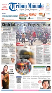 Tribun Manado Cover 23 May 2019