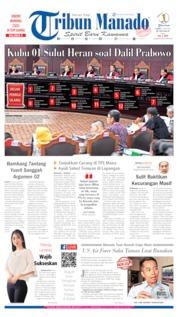 Tribun Manado Cover 15 June 2019